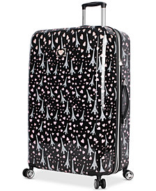 "Betsey Johnson Paris Love 30"" Hardside Spinner Suitcase"