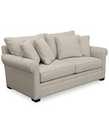 "Dial II 76"" Apartment Sofa with 4 Toss Pillows"