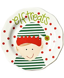 North Pole Elf Treats Face Appetizer Plate