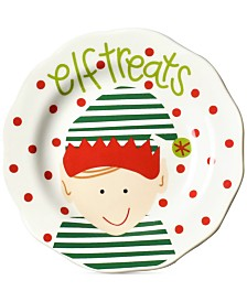 Coton Colors North Pole Elf Treats Face Appetizer Plate