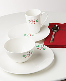 Lenox Holiday Leaf Casual Monogram Collection