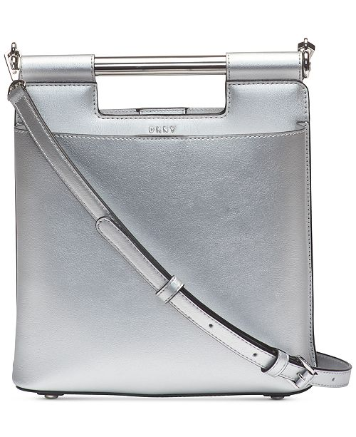 36de370075 DKNY Ursa Mastrotto Leather Bucket Bag