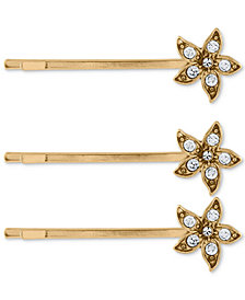 RACHEL Rachel Roy 3-Pc. Set Crystal Flower Hair Pins