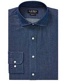 Ralph Lauren Men's Slim Fit Cotton Dress Shirt
