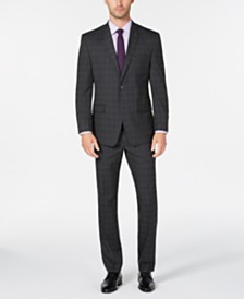 Marc New York by Andrew Marc Men's Modern-Fit Gray Plaid Suit