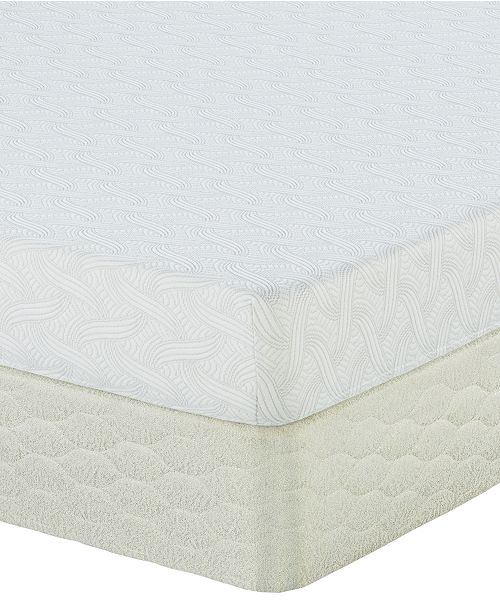 various colors 5559f bf10e Sertapedic 7 Follenbee Firm Memory Foam Mattress Set- Queen Split