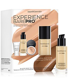 Make it a 3-Step Routine with a Customizable Foundation Kit for only $5 with any bareMinerals BarePro Performance Wear Liquid Foundation purchase!