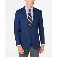 Tommy Hilfiger Mens Modern-Fit THFlex Stretch Blue Plain Sport Coat Deals