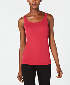 Eileen Fisher Silk Jersey Sleeveless Top