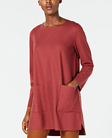 Eileen Fisher Wool Boxy Tunic, Regular & Petite