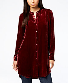 Eileen Fisher Button-Front Tunic Shirt