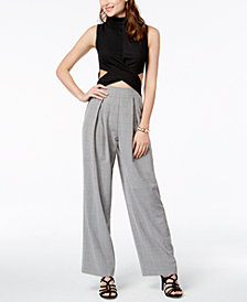 XOXO Juniors' Cutout Colorblocked Jumpsuit