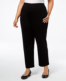 Alfred Dunner Plus Size Travel Light Pull-On Pants, Regular & Short Inseam