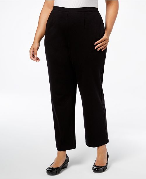695cfb34702 ... Alfred Dunner Plus Size Travel Light Pull-On Pants