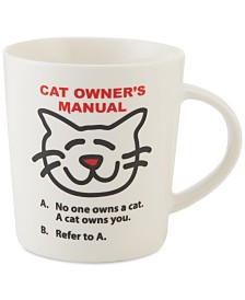 Pfaltzgraff Cat Owner's Manual Mug