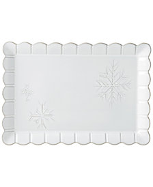 Lenox Alpine Carved Rectangular Platter