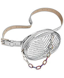 Steve Madden Quilted Oil-Slick Fanny Pack