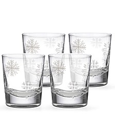 Alpine Snowflake Double Old-Fashioned Glasses, Set of 4