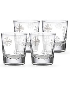 Lenox Alpine Snowflake Double Old-Fashioned Glasses, Set of 4