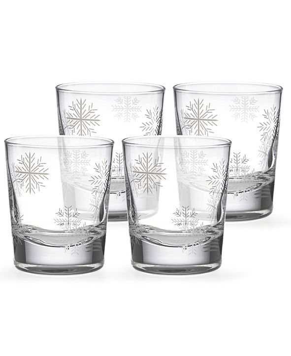 Lenox Alpine Snowflake Double Old-Fashioned Glasses, Set of 4