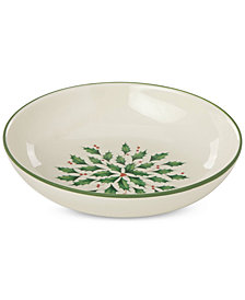 Lenox Holiday Entertaining Individual Pasta Bowl
