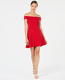 Teeze Me Juniors' Off-The-Shoulder Party Dress