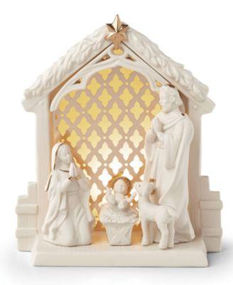 Lit Nativity Scene