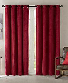"""Madison Park Monroe 50"""" x 95"""" Solid Velvet Thermal Grommet Window Panel"""