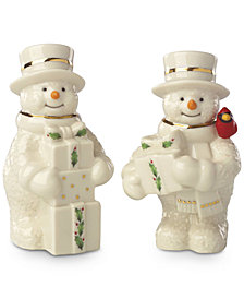 Lenox Snowman Salt & Pepper Shaker Set