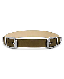 I.N.C. Clean Double-Buckle Belt, Created for Macy's
