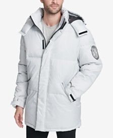 DKNY Men's Big & Tall Hooded Bubble Parka, Created for Macy's