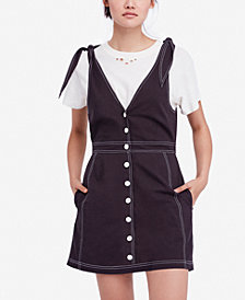 Free People London Town Tie-Strap Dress