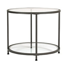 Camber Round Glass End Table