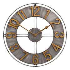 "15"" Industrial Loft Wall Clock"