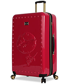 "Betsey Johnson Lips 30"" Hardside Expandable Spinner Suitcase"