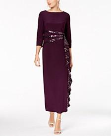 Cascading Sequin-Embellished Dress
