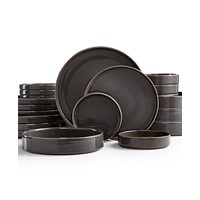Deals on Goodful Stackable Gray 20-Pc. Dinnerware Set Service for 4