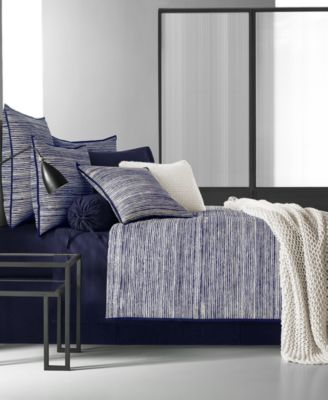Oscar|Oliver Flen Cotton Indigo King Duvet Cover