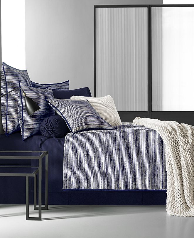 Oscar Oliver Oscar|Oliver Flen Indigo Bedding Collection