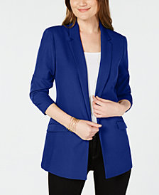 I.N.C. Petite Ruched-Sleeve Blazer, Created for Macy's