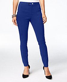 I.N.C. Seamed Extend-Tab Skinny Pants, Created for Macy's