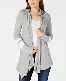 I.N.C. Hooded Varsity-Stripe Cozy, Created for Macy's