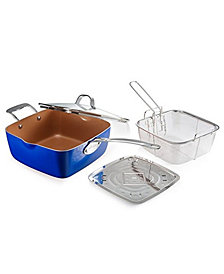 """Gotham Steel 9.5"""" Deep Square Pan with Lid"""