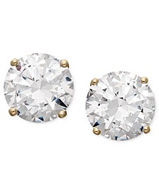 14k Gold Earrings, Swarovski Zirconia Round Stud Earrings (1-3/4 ct. t.w.-6-5/8 ct. t.w.)