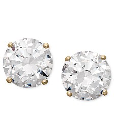 Arabella 14k Gold Earrings, Swarovski Zirconia Round Stud Earrings (1-3/4 ct. t.w.-6-5/8 ct. t.w.)