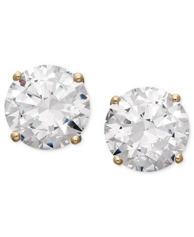Arabella 14k Gold Earrings, Swarovski Zirconia Round Stud Earrings (1-3/4 ct. t.w.-6-5/8 ct. t.w.)