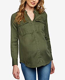 A Pea In The Pod Maternity Button-Front Shirt