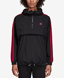 adidas Originals Hooded Quarter-Zip Windbreaker