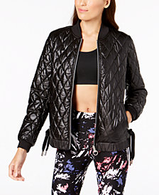 Calvin Klein Performance Lace-Up Reversible Bomber Jacket