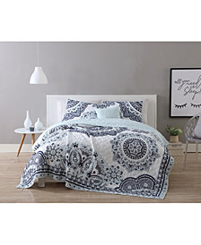VCNY Home Kaya Reversible 4-Pc. Medallion Twin XL Quilt Set
